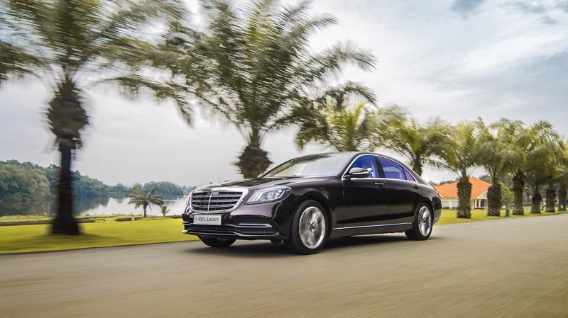 Mẫu xe sedan hạng sang Mercedes S 450L Luxury tại thị trường Việt Nam.