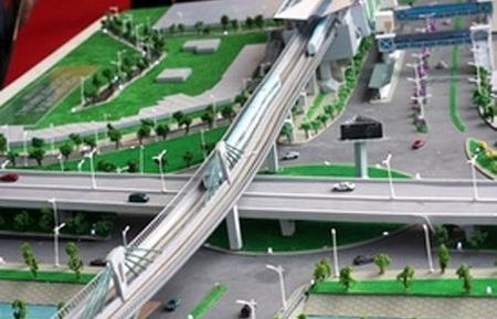 Mô hình một tuyến metro tại Hà Nội.