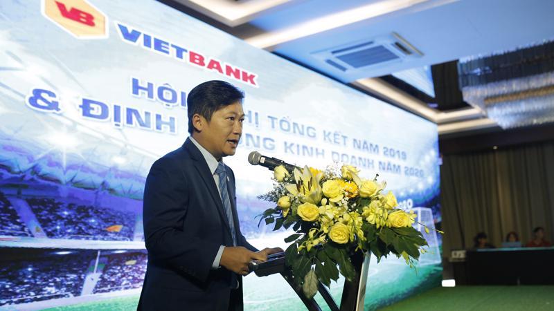 Ông Dương Nhất Nguyên - Phó chủ tịch Hội Đồng Quản trị Vietbank phát biểu tại lễ tổng kết hoạt động năm 2019 của ngân hàng.