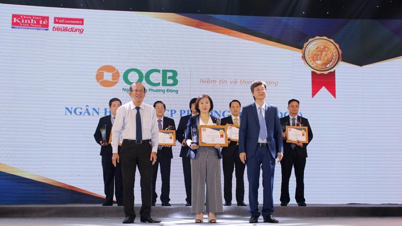 OCB vinh dự được bình chon là thương hiệu Tin - Dùng ở hạng mục dịch vụ bán lẻ.