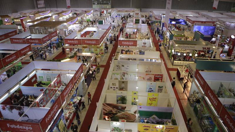 Hình ảnh các gian hàng tham dự triển lãm Vietnam Foodexpo 2017.