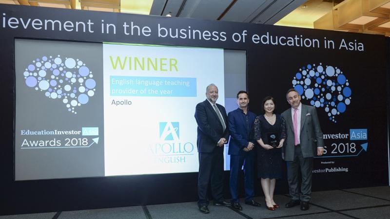 """Với giải thưởng EducationInvestor Asia Award 2018, Apollo English tự hào khẳng định cam kết """"Where the best become better"""" bằng sự phát triển bền vững và hướng đi mang tầm quốc tế."""