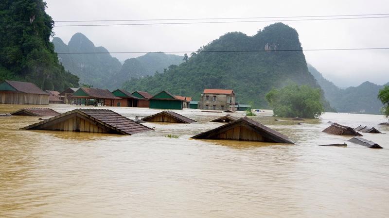 Mực nước các sông ở miền Trung đang lên, nguy cơ ngập lụt trở lại. Ảnh minh họa.