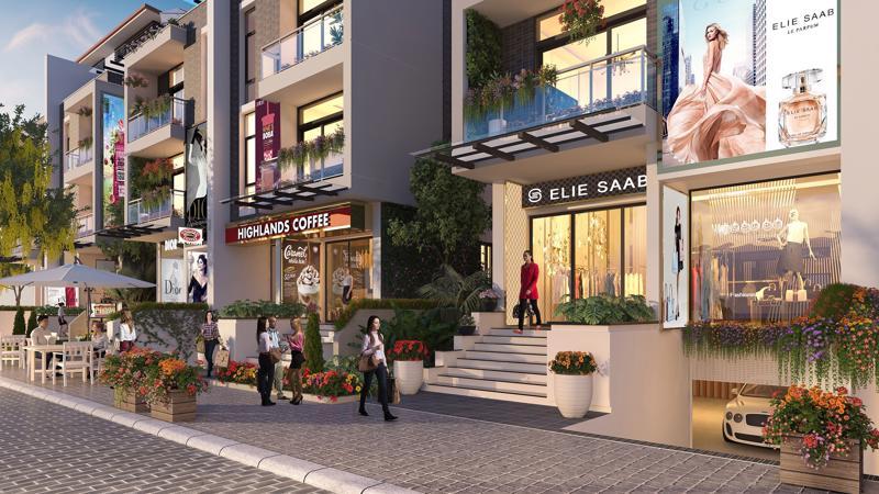 Shop villa Imperia Garden tọa lạc tại hai mặt tiền 203 Nguyễn Huy Tưởng và 143 Nguyễn Tuân, Hà Nội.