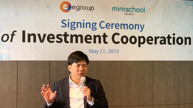 Theo ký kết, từ năm 2019 Egroup sẽ kết hợp với Minischool để đưa chương trình tiếng Anh kết hợp hai nền tảng cả online và offline vào ứng dụng ở Việt Nam.