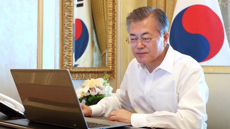 Tổng thống Hàn Quốc Moon Jae-in - Ảnh: Yonhap.