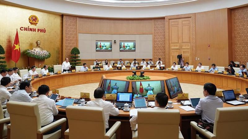 Một phiên họp của Chính phủ đương nhiệm - Ảnh: QP