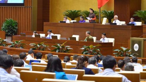 Một phiên họp của Quốc hội khoá 14 - Ảnh: QP