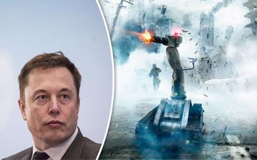 Elon Musk cho rằng trí tuệ nhân tạo là một rủi ro căn bản đối với sự tồn tại của văn minh nhân loại - Ảnh: Daily Express.<br>