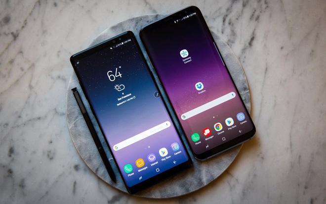 Chiếc smartphone cao cấp Galaxy Note 8 của Samsung.