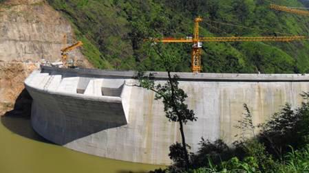 Nhà máy thuỷ điện Nậm Chiến.