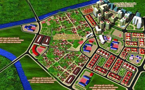 Phối cảnh quy hoạch chi tiết khu đô thị mới Nam hồ Linh Đàm.<br>