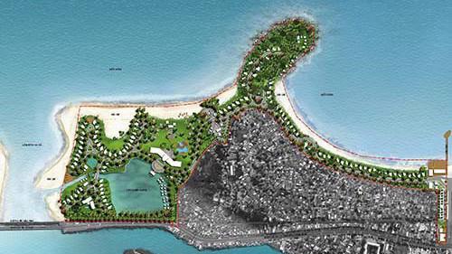 Bản đồ quy hoạch Khu du lịch sinh thái Nam Ô do Tập đoàn Trung Thủy làm chủ đầu tư.
