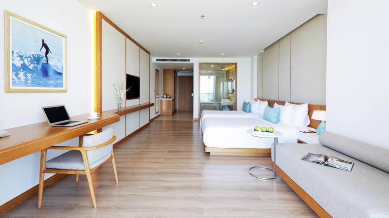 Trong mỗi căn hộ là một không gian yên tĩnh, thoải mái, với những gam màu ấm áp, trang thiết bị hiện đại.