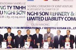 Dự án Liên hợp Lọc hóa dầu Nghi Sơn đã được khởi động vào đầu tháng 5/2008.
