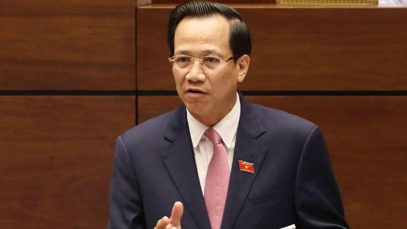Bộ trưởng Bộ Lao động - Thương binh và xã hội Đào Ngọc Dung trả lời chất vấn trước Quốc hội, ngày 5/6.