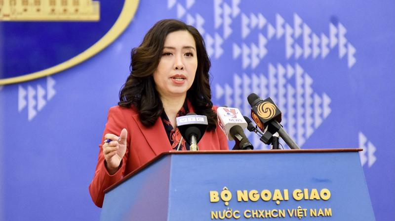 Người phát ngôn Bộ Ngoại giao Lê Thị Thu Hằng tại họp báo chiều 17/12 - Ảnh: Bộ Ngoại giao