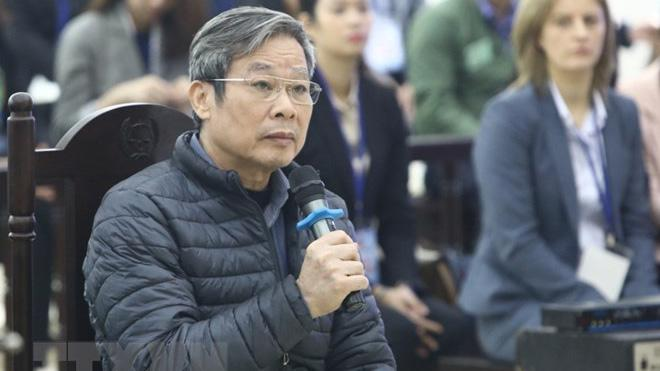 Ông Nguyễn Bắc Son tại phiên toà sáng nay - Ảnh: TTXVN.