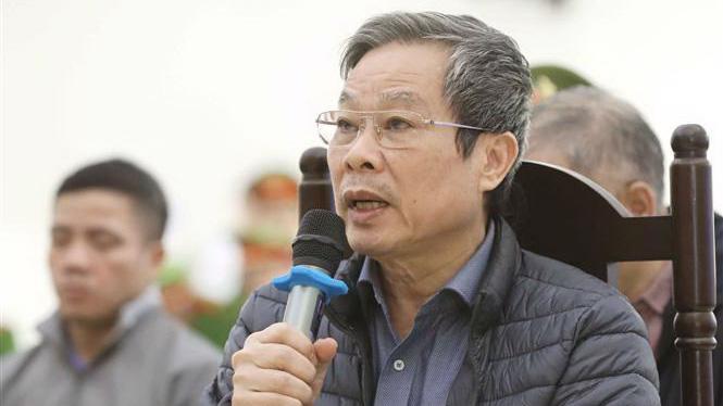 Ông Nguyễn Bắc Son khai nhận tại toà hôm nay. Ảnh: TTXVN