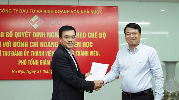 Tân Tổng giám đốc SCIC Nguyễn Chí Thành (bên trái).