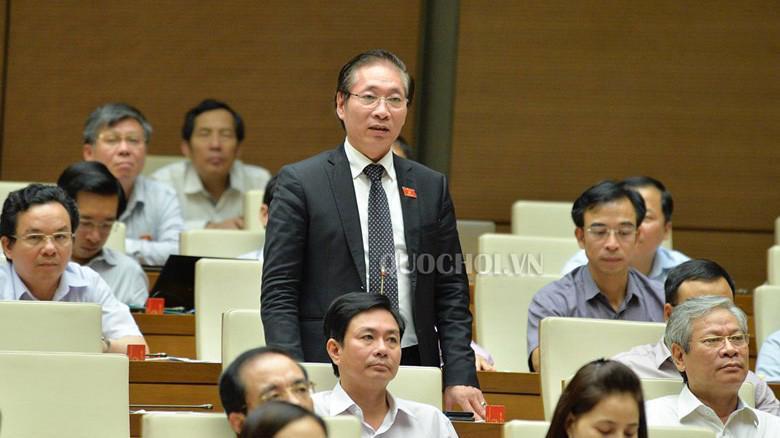 Đại biểu Nguyễn Chiến phát biểu tại hội trường.
