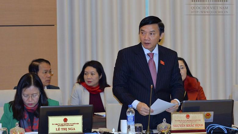 Chủ nhiệm Uỷ ban Pháp luật Nguyễn Khắc Định góp ý hoàn thiện dự thảo luật.