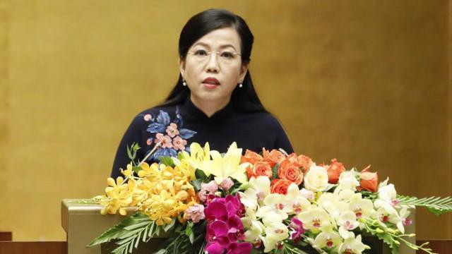 Trưởng ban Dân nguyện Nguyễn Thanh Hải trình bày báo cáo - Ảnh: Quang Phúc.