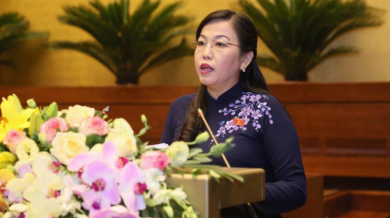 Trưởng ban Dân nguyện Nguyễn Thanh Hải trình bày báo cáo - Ảnh: QP