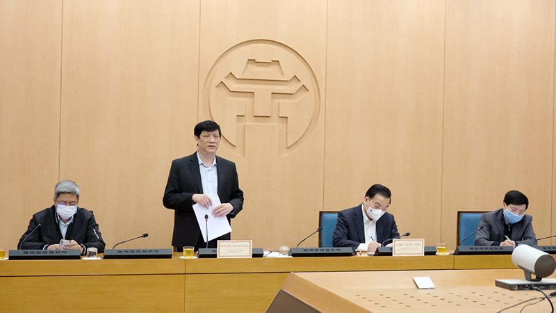 Bộ trưởng Nguyễn Thanh Long phát biểu tại cuộc họp với Hà Nội chiều 1/2. Ảnh - Trần Minh.