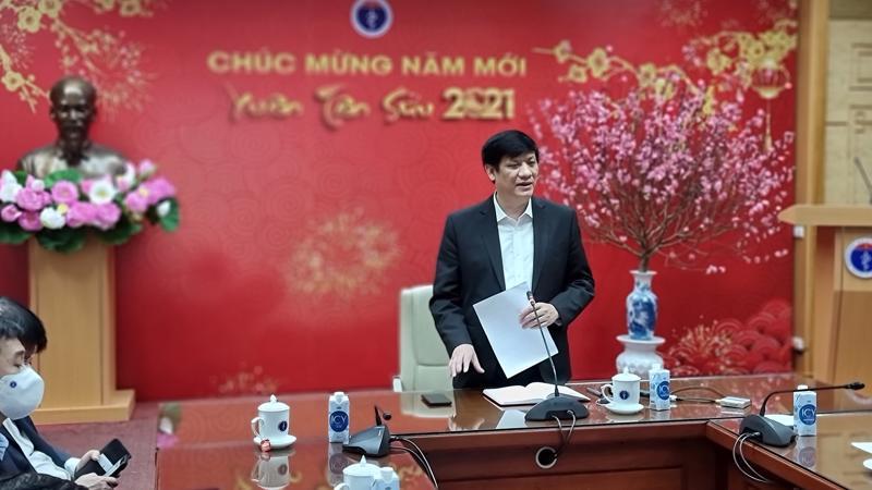 Bộ trưởng Bộ Y tế Nguyễn Thanh Long chỉ đạo cuộc họp.