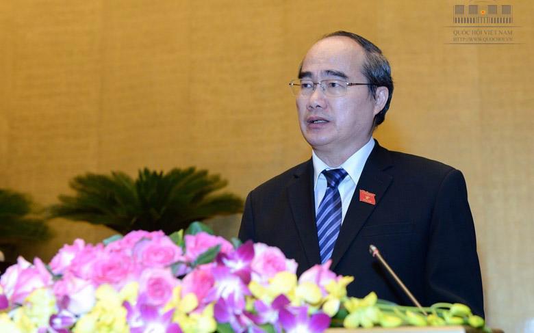 Chủ tịch Uỷ ban Trung ương Mặt trận Tổ quốc Việt Nam, ông Nguyễn Thiện Nhân.