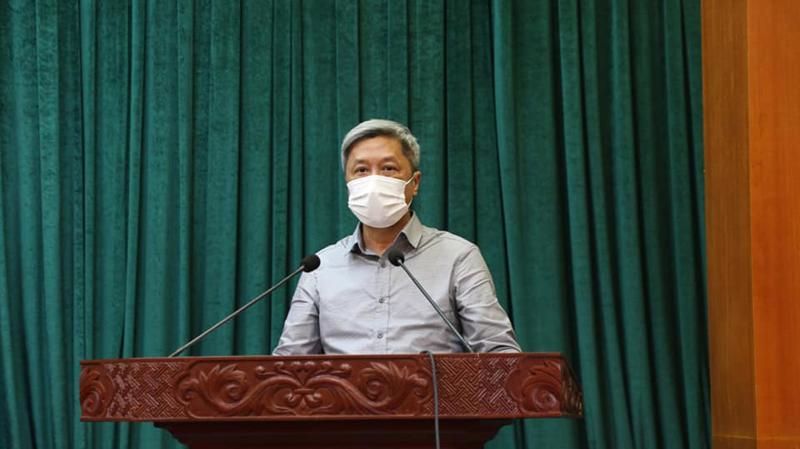 Thứ trưởng Bộ Y tế Nguyễn Trường Sơn. Ảnh - Huy Hoàng.