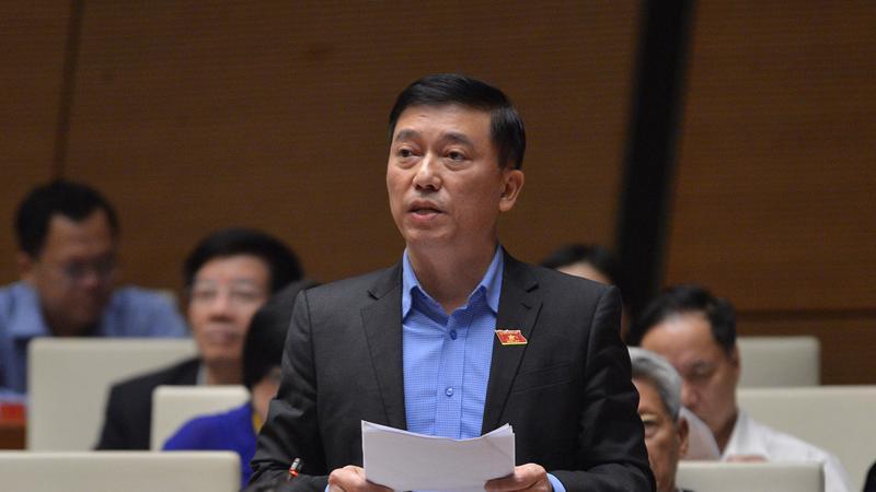 Đại biểu Nguyễn Tuấn Anh - Đoàn đại biểu quốc hội tỉnh Bình Phước, phát biểu tại phiên thảo luận sáng 3/11 - Ảnh: Cổng thông tin Quốc hội.