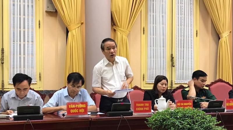 Phó Tổng Thanh tra Chính phủ Nguyễn Văn Thanh tại cuộc họp báo