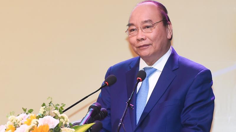 Thủ tướng Nguyễn Xuân Phúc phát biểu tại hội nghị ngày 13/3 - Ảnh: VGP