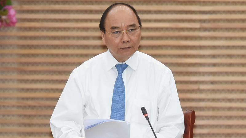 Thủ tướng Nguyễn Xuân Phúc tại cuộc họp với lãnh đạo chủ chốt tỉnh Nghệ An sáng ngày 14/3 - Ảnh: VGP