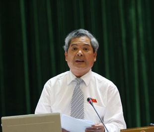 Bộ trưởng Phạm Khôi Nguyên trả lời chất vấn trước Quốc hội - Ảnh : LQP.