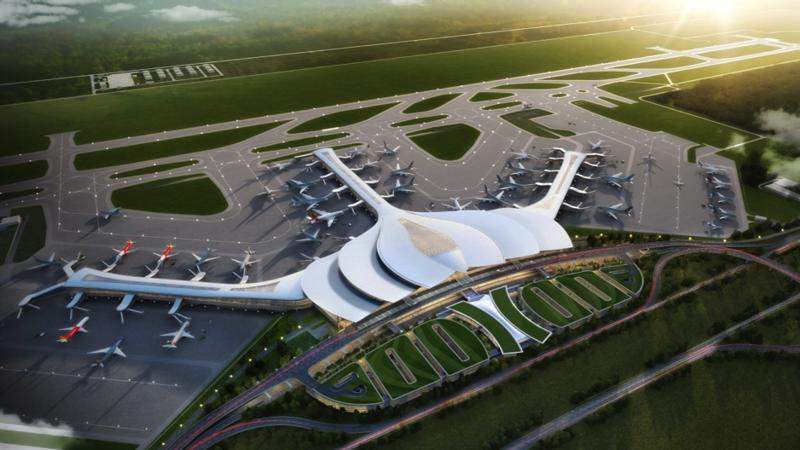 Phối cảnh nhà ga hàng khách sân bay Long Thành