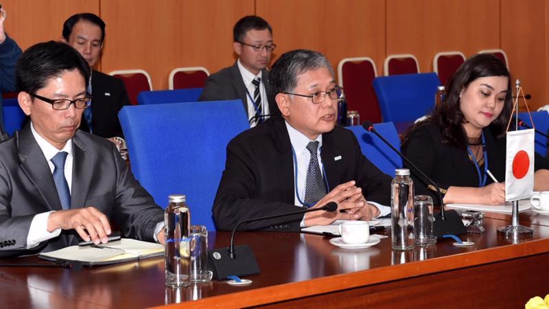 Ông Yoshiki Onoi, Chủ tịch Hiệp hội Xúc tiến Ngoại giao Nhân dân Nhật Bản (FEC). Ảnh: Bộ Tài chính