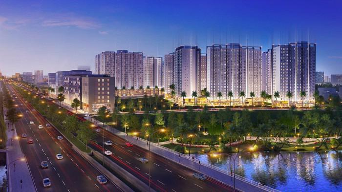 Dự án Akari City nằm trên Đại lộ Võ Văn Kiệt, liền kề khu vực Chợ Lớn, Tp. HCM