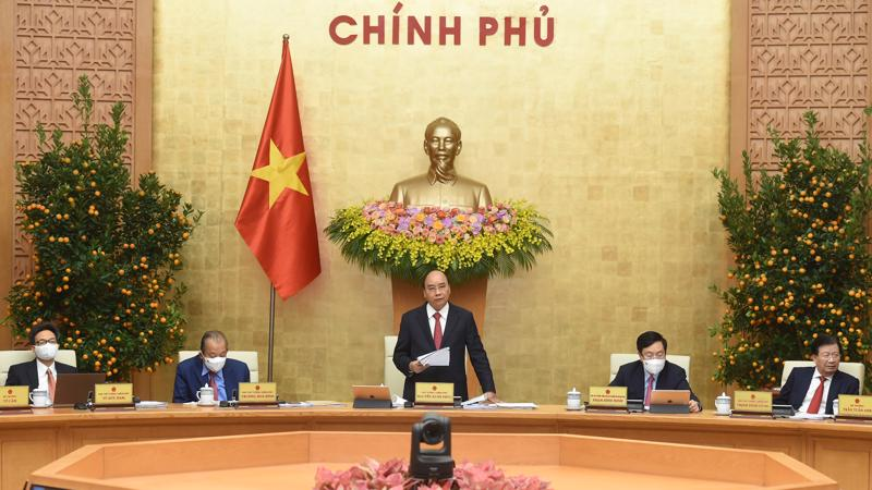 Thủ tướng Nguyễn Xuân Phúc chủ trì phiên họp Chính phủ thường kỳ ngày 2/3 - Ảnh: VGP