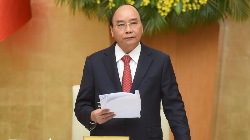 Thủ tướng Nguyễn Xuân Phúc khai mạc phiên họp thường kỳ tháng 2/2021 của Chính phủ - Ảnh: VGP