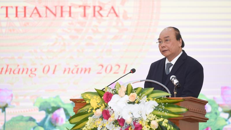 Thủ tướng phát biểu tại hội nghị chiều 12/1.