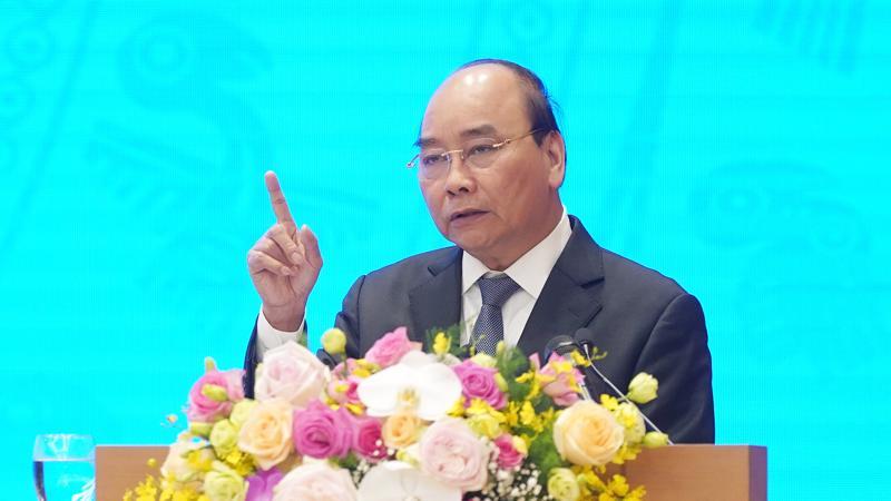 Thủ tướng Nguyễn Xuân Phúc phát biểu kết thúc hội nghị Chính phủ với địa phương - Ảnh - VGP