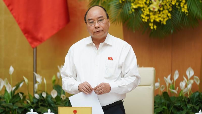 Thủ tướng Nguyễn Xuân Phúc chủ trì phiên họp tháng 5 của Chính phủ.