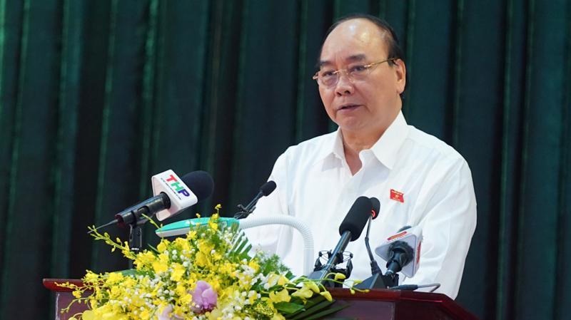 """Thủ tướng Nguyễn Xuân Phúc cho rằng: """"Chúng ta không có ước mơ nào hơn là nâng cao mức sống của người dân cả về vật chất và tinh thần""""."""