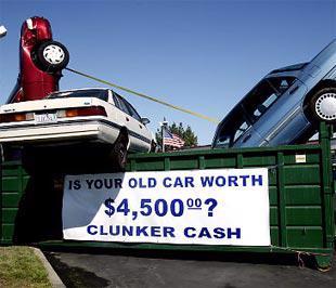 Thưởng dập xe cũ là một chương trình kích cầu ôtô mà Chính phủ Mỹ học của châu Âu - Ảnh: NY Daily News.