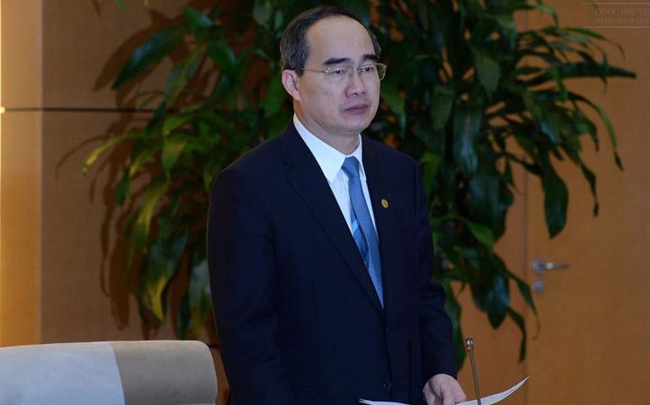 Chủ tịch Uỷ ban Trung ương Mặt trận Tổ quốc - Bí thư Thành uỷ Tp.HCM Nguyễn Thiện Nhân.<br>