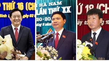 Từ trái qua phải: Chủ tịch UBND tỉnh Bình Dương Nguyễn Hoàng Thao; Chủ tịch UBND tỉnh Hà Nam Trương Quốc Huy; Chủ tịch UBND tỉnh Yên Bái Trần Huy Tuấn .