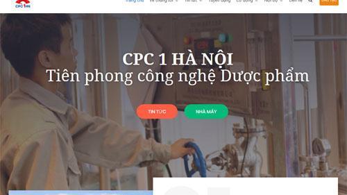 Trang web của CPC1 Hà Nội.
